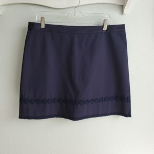 Draper James navy skirt with daisy lace details 14